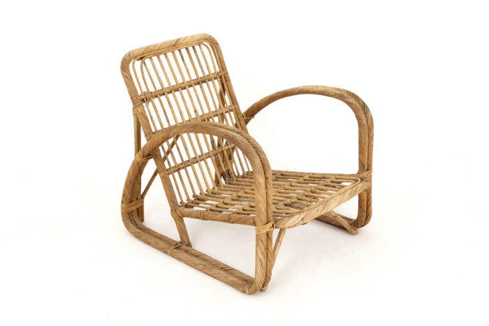 paul frankl fauteuil rotin vintage côté