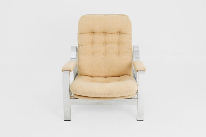 fauteuil modulable acier chromé face