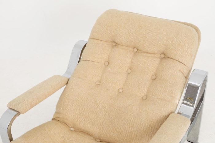 fauteuil modulable acier chromé detail dossier