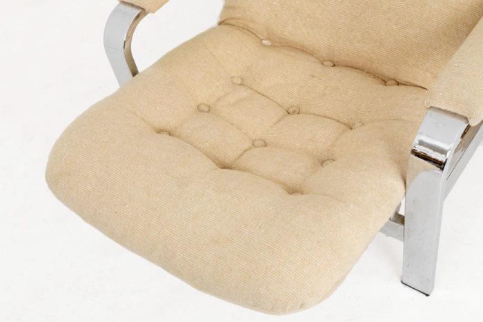 fauteuil modulable acier chromé detail assise