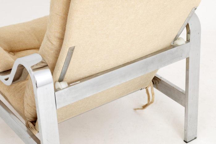 fauteuil modulable chromé détail dos