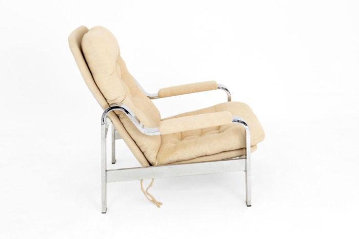 fauteuil modulable acier chromé coté droit
