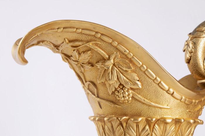 aiguière bronze doré pampe vigne deversoire