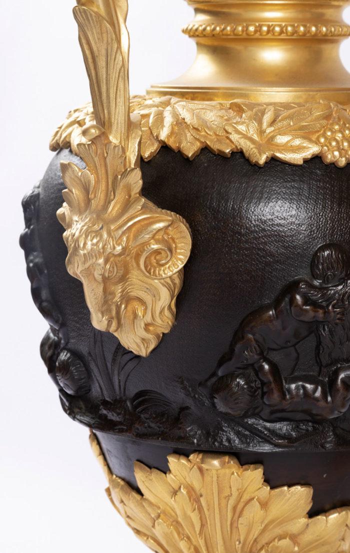 aiguière bronze doré tête bélier