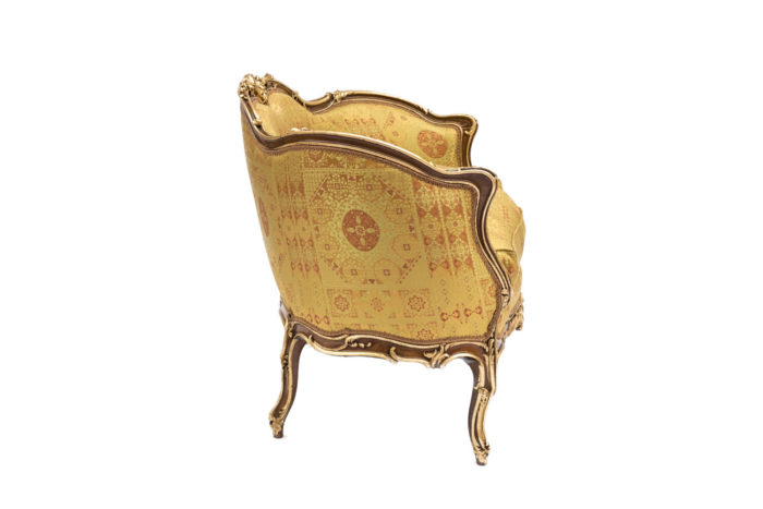 canapé rocaille louis xv assise rubelli