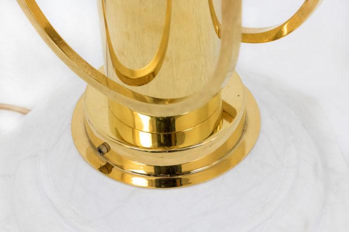 lampe aldo nason mazzea laiton doré base