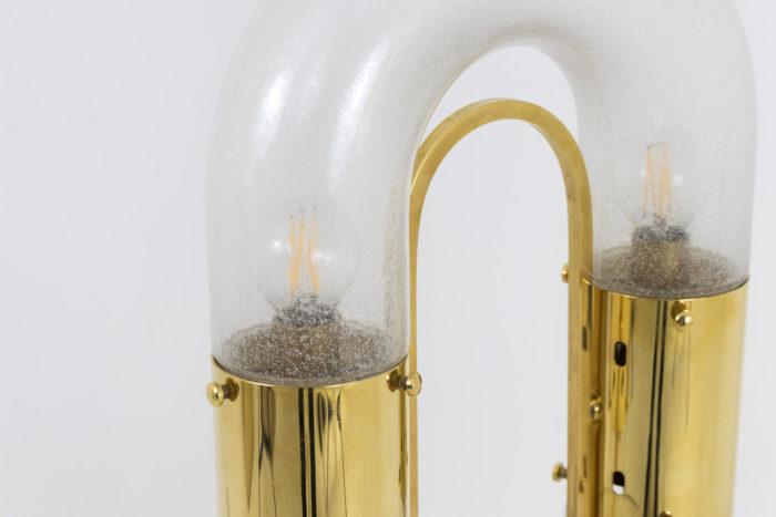 lampe aldo nason mazzea laiton doré verre maillon