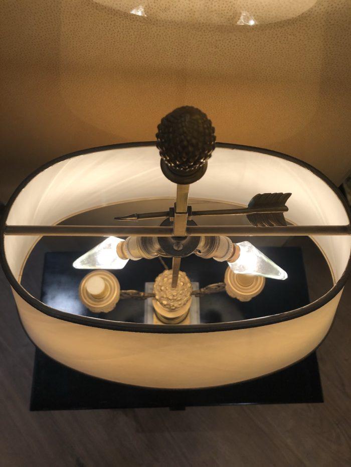 lampe bouillotte restauration vue dessus ampoules