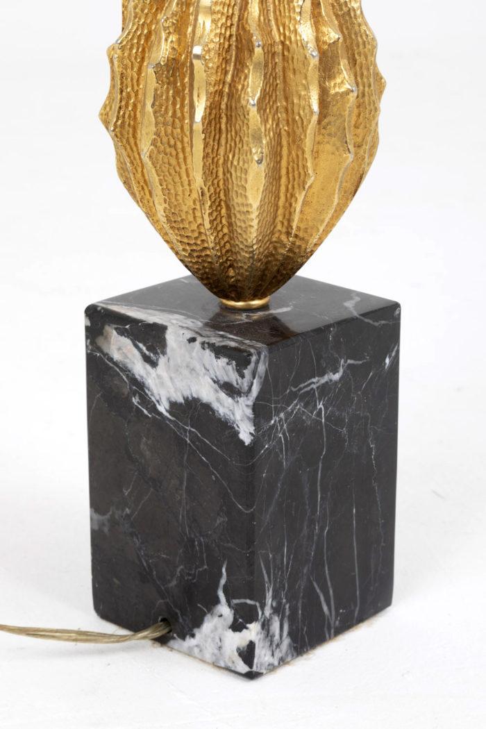 lampe cabosse maison charles bronze doré base