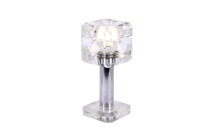cube lamp plexiglas stainless steel
