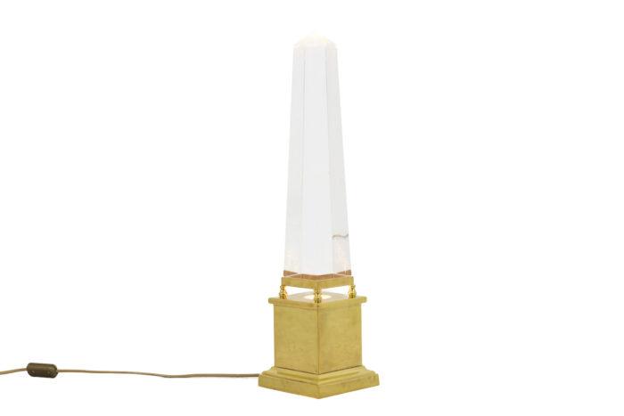lampe obélisque lucite style maison jansen