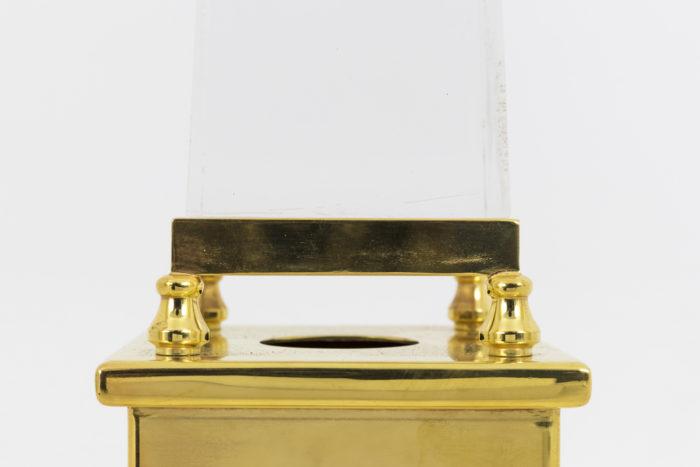 lampe obélisque lucite style maison jansen base lucite