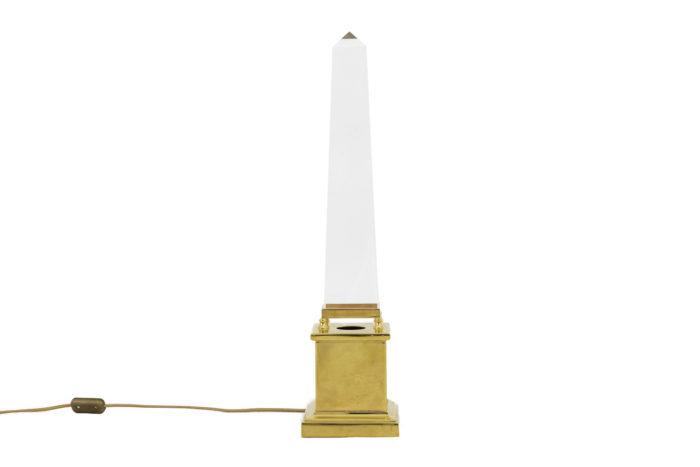 lampe obélisque lucite style maison jansen côté