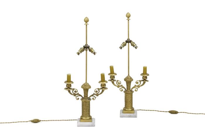 lampes style restauration bronze doré 2