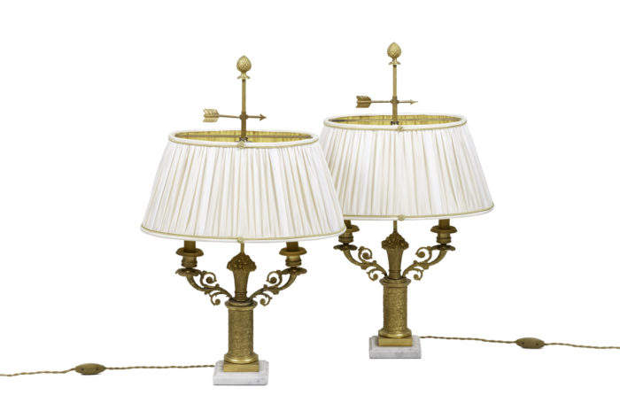 restauration style lamps gilt bronze