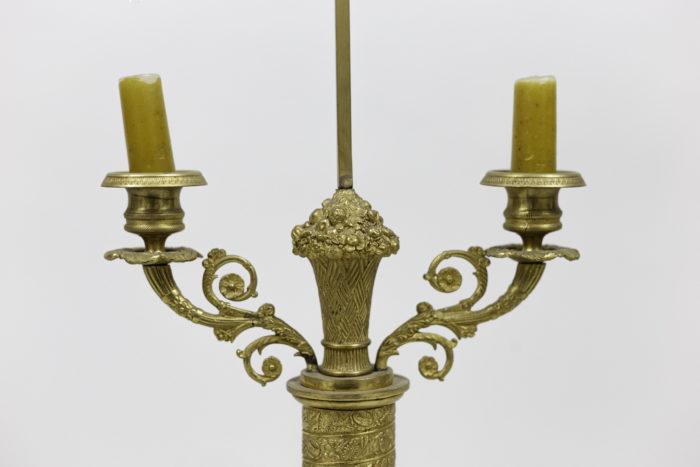 lampes style restauration bronze doré bras