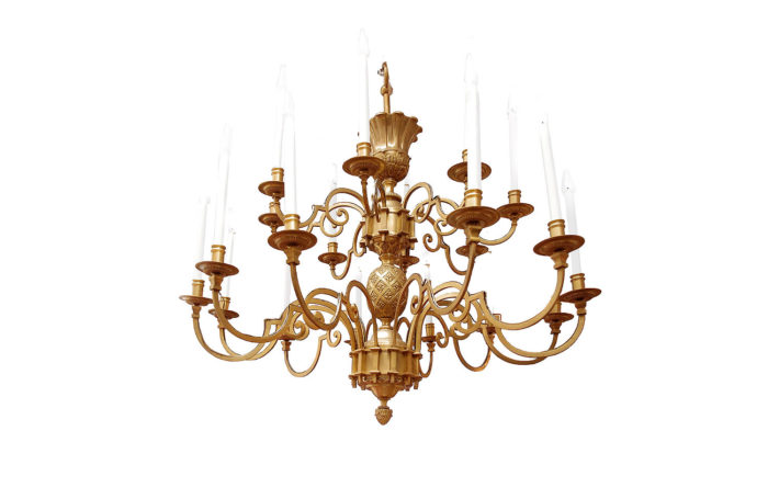 delisle chandelier gilt bronze stylised egg