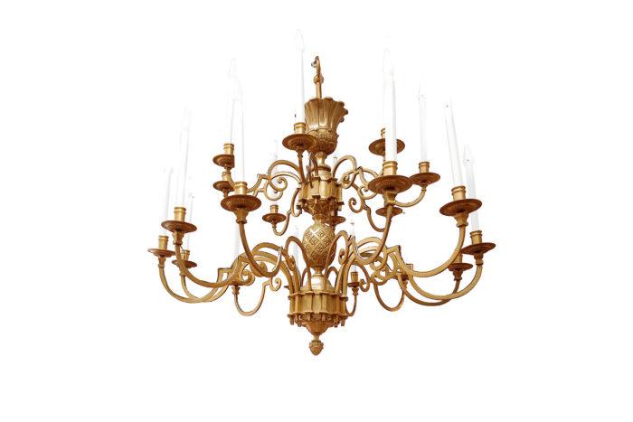 lustre delisle bronze doré oeuf stylisé