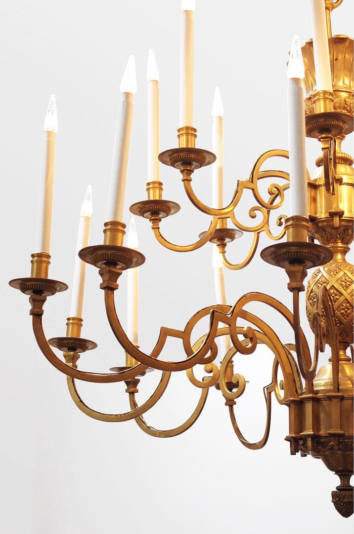 lustre delisle bronze doré