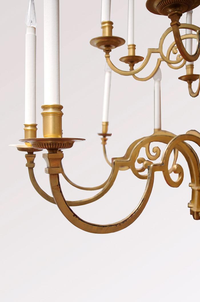 lustre delisle bronze doré bras
