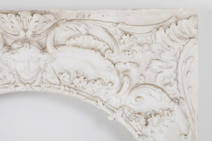 panneau stuc louis XV detail cadre 2