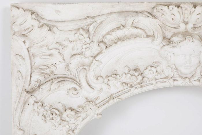 panneau stuc louis XV detail cadre