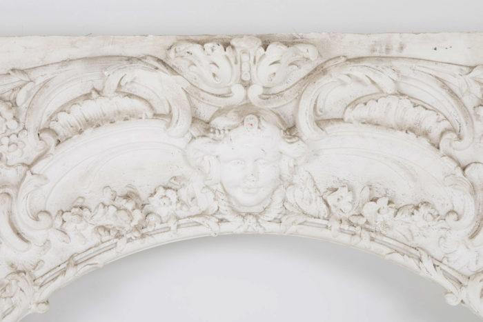 panneau stuc louis XV mascaron