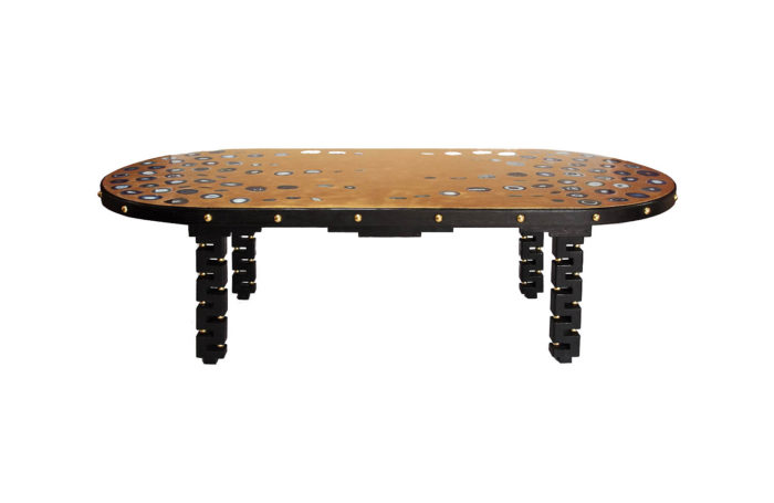 table agates gilt brass