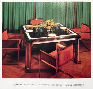 Alain Delon table et fauteuil Jansen Collections