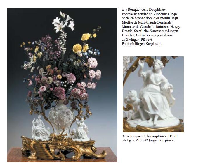 Bouquet de la dauphine manufacture de Vincennes