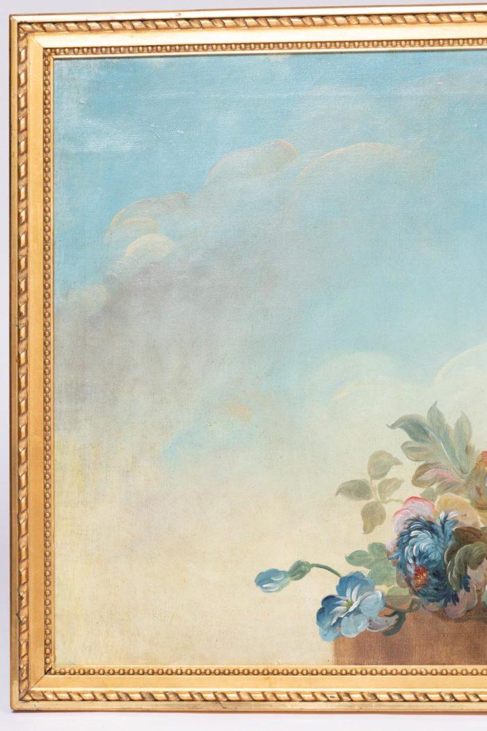 ciel nuageux vase godrons