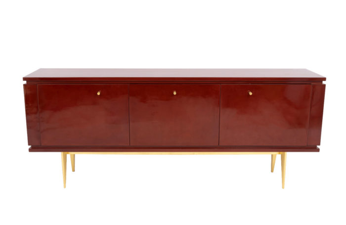 red lacquered sideboard 1960's face