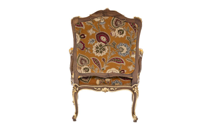 fauteuil à chassis louis XV dos