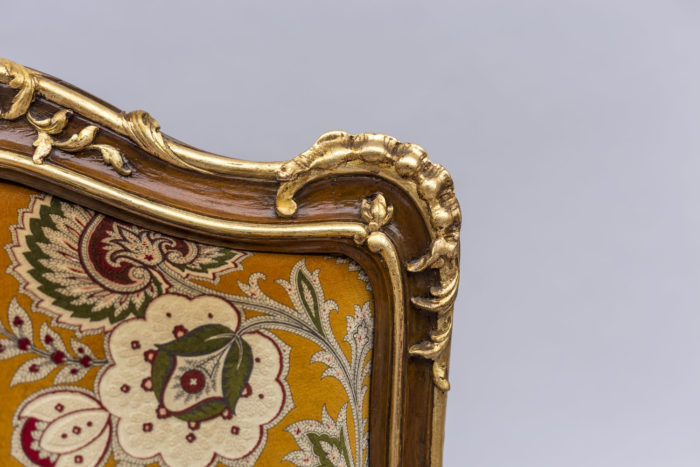 fauteuil louis xv crète de coq dorée