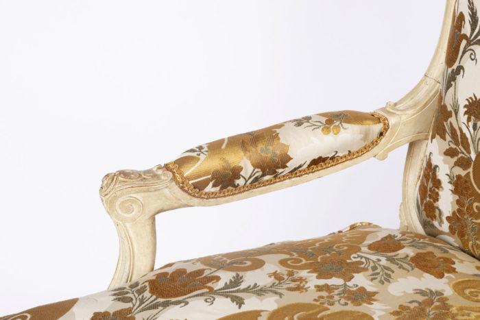 fauteuil louis xv manchette accotoirs