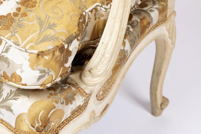 fauteuil louis xv tilliard console accotoir