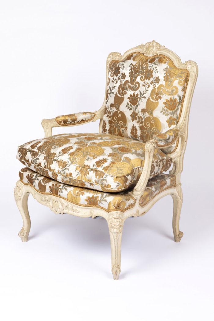 fauteuil tilliard louis xv vue profile