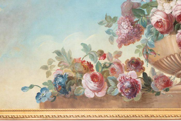 fleurs gauche vase godrons