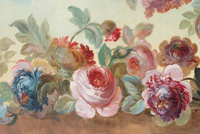 fleurs vase godrons