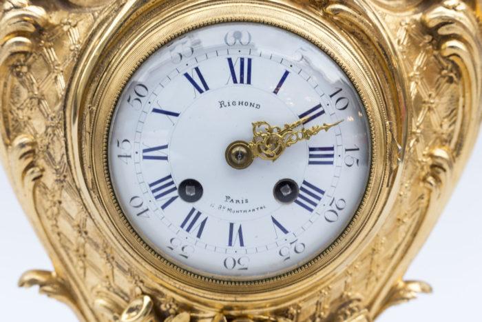 horloge pendule richond garniture cheminée