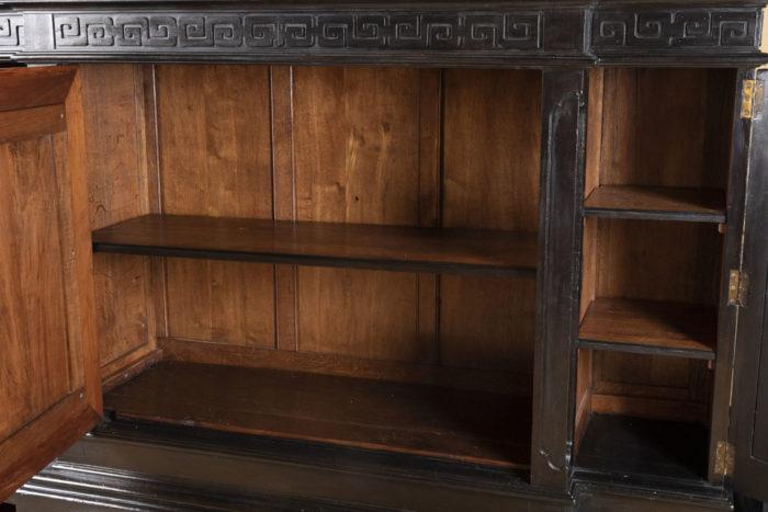 interieure meuble d'appui chinoisant laque noire