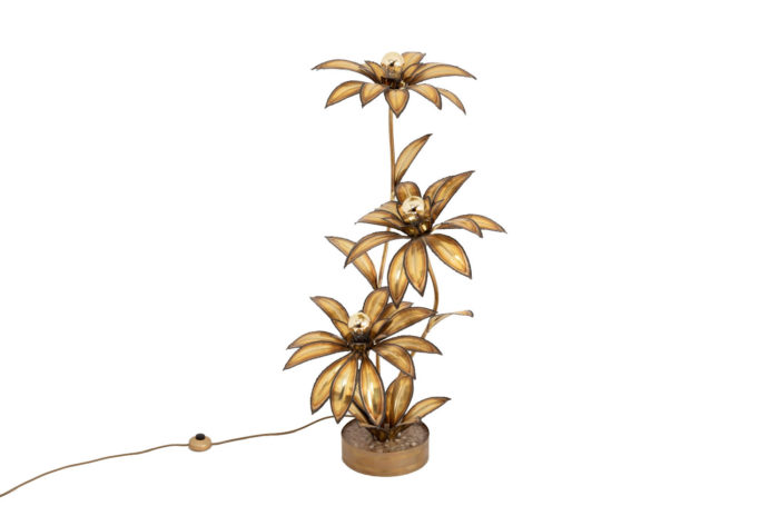 lflower lamp gilt brass maison jansen