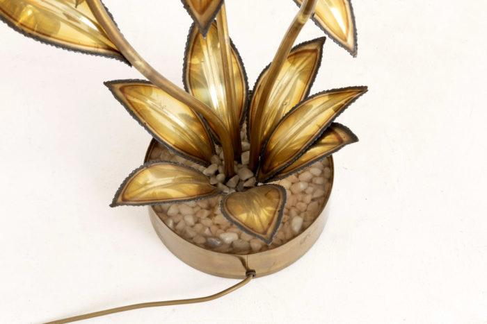 lampe fleur laiton doré maison jansen base