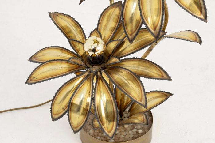 lampe fleur maison jansen laiton doré fleur 3