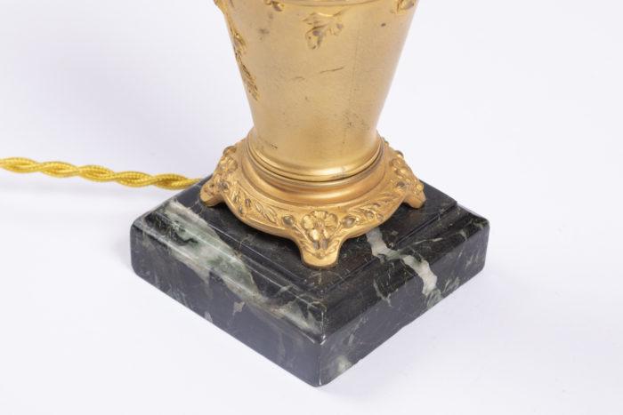 lampe louchet base marbre vert