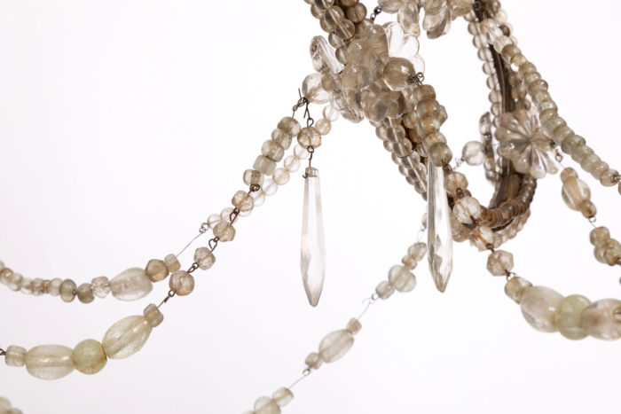 genoese chandelier pampilles ice cube crystal and beads