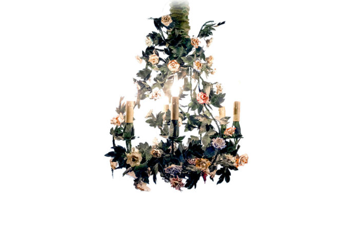 chandelier meissen porcelain vincennes main