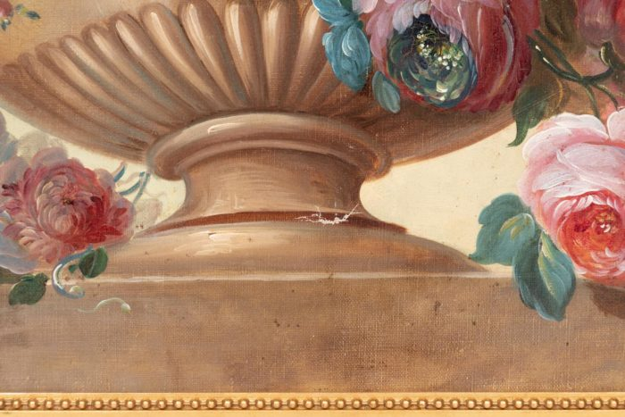 manque peinture vase godrons