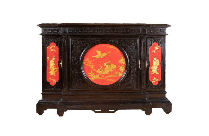 chinese style cabinet red black and gold lacquer main