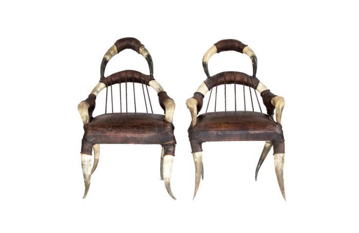 michel haillard fauteuils corne de buffle